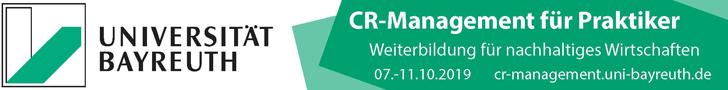CR-Management für Praktiker. Weiterbildung für nachhaltiges Wirtschaften. Universität Bayreuth, 07.-11.10.2019