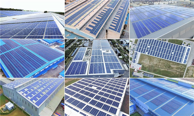 Eine Solaranlage in Cambodia (c) Cleantech Energy Corporation Pte Ltd